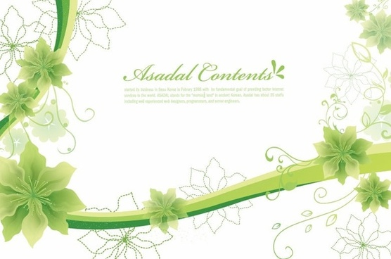 Simple and Elegant Floral Background Vector Graphics