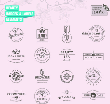 simple badges and labels elements design vector