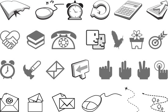 simple black and white icon 2 vector