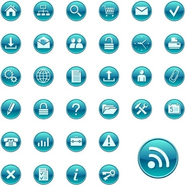 simple blue circular icon vector