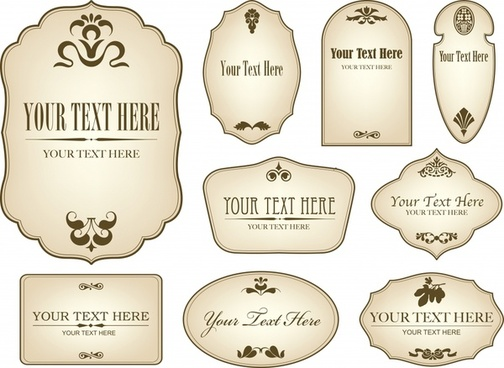 labels templates simple classical flat shapes