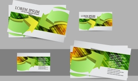 simple business cards design vector set