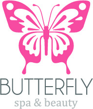 simple butterfly logo design vector