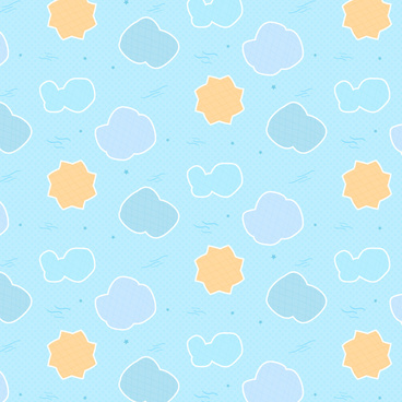 simple cartoon cloud and star background