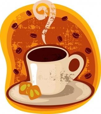 simple coffee cup stickers vector