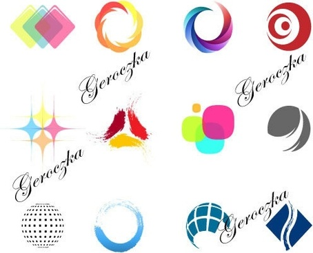 logo templates colored modern shapes