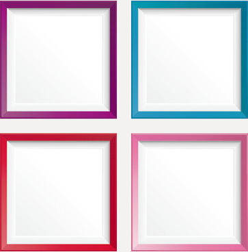 simple colored photo frame vectors