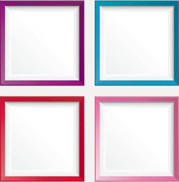 Colorful photo frame border design free vector download
