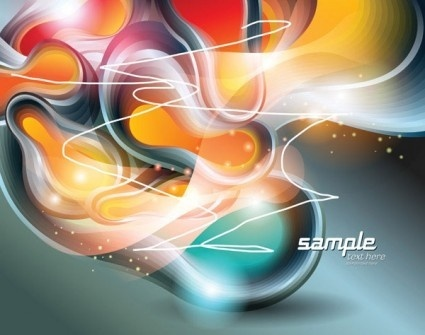 simple colorful abstract vector
