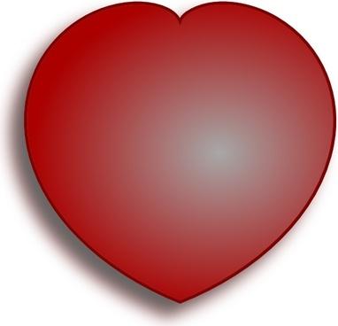 Simple D Heart clip art