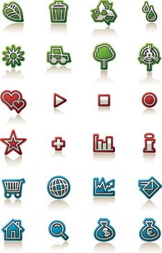 Simple small icons vector graphics free vector download