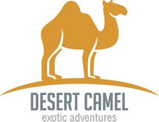 simple desert camel logo design vector