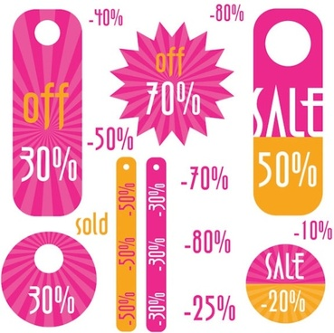 simple discount sales tag vector