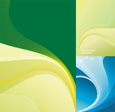 abstract background templates dynamic colored curves ornament