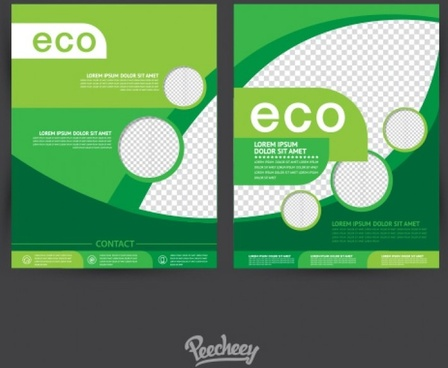 simple eco brochures with transparent segments