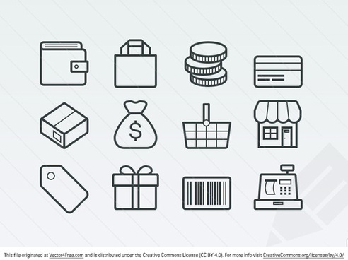 simple ecommerce icons
