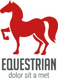 simple equestrian logo design vector