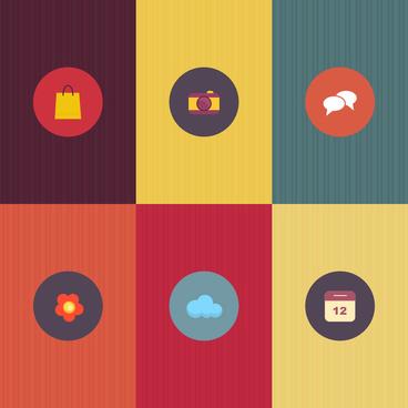 simple flat icons set