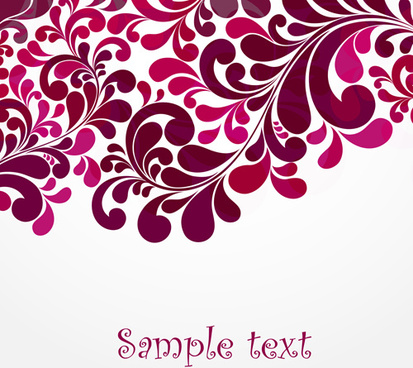 simple floral decorative pattern vector background