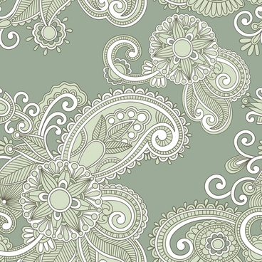 simple flower pattern background vector