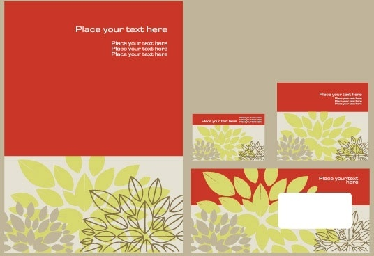 simple flower template vector 2 vi