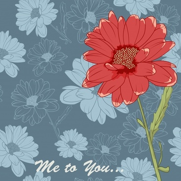 simple flowers background vector