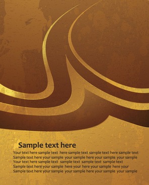 simple gold art background vector
