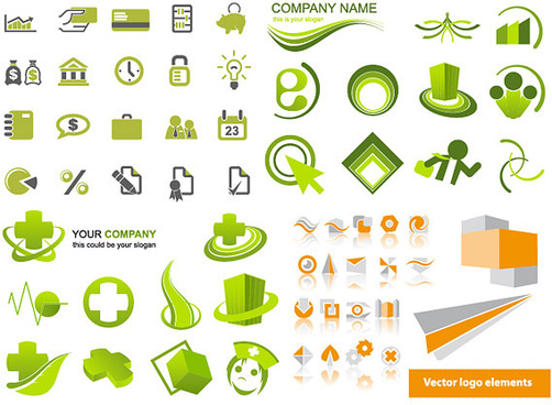 simple graphical icons vector
