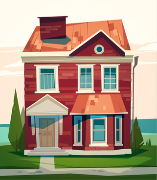 simple houses vectors design
