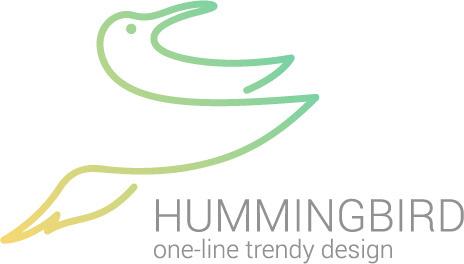 simple hummingbird logo design vector