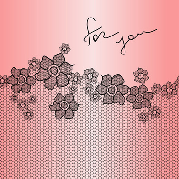 simple lace art background vector