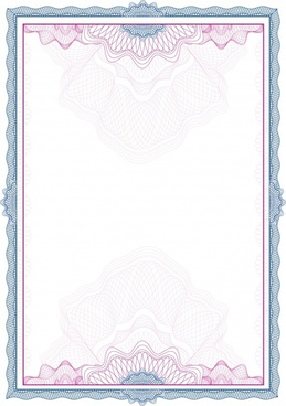 certificate border template colored classical seamless design