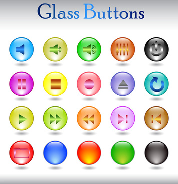 simple media button set