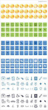 simple medical icons vector