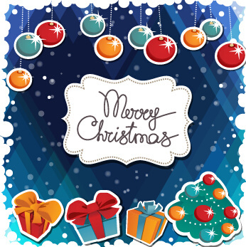 simple merry christmas vector backgrounds