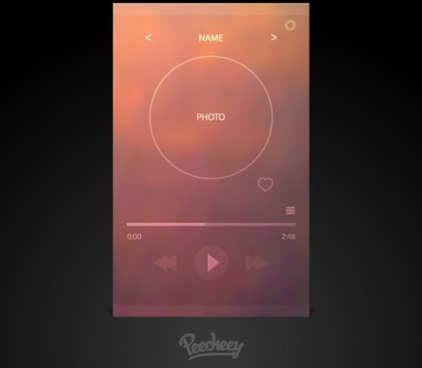 simple music player for mobile devices