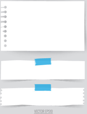 simple note papers vector set