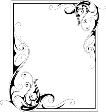 simple ornament frame vector