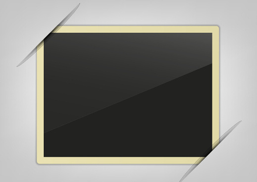 simple paper photo frame vector