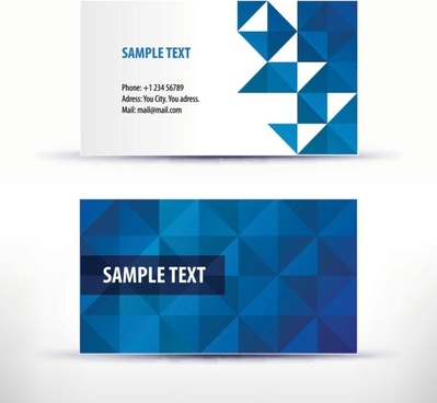 simple pattern business card template 04 vector