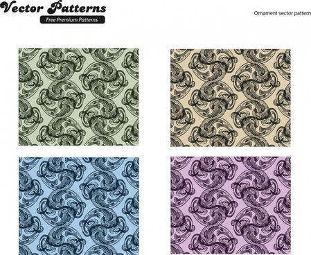 decorative pattern abstract seamless repeating curves decor