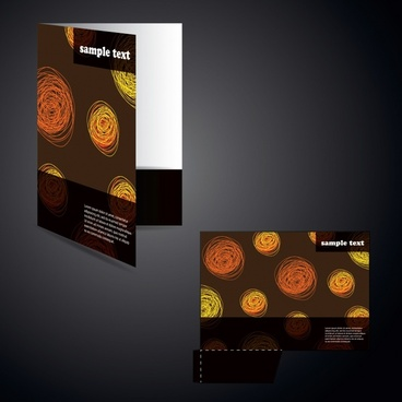 brochure cover template abstract handdrawn circles decor