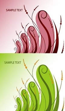 nature background templates classical curves red green sketch