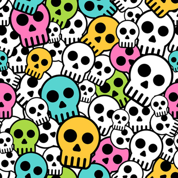 simple skull vector seamless pattern