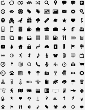 Simple Small Icons Vector Graphics