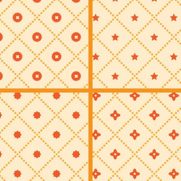 simple square flower pattern