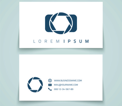 simple styles business cards vectors