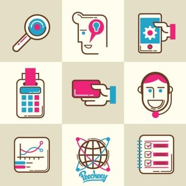 simple stylized icon set