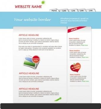 simple template web vector design