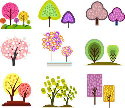 simple tree design element collection